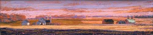 "Amish Earth, pastels, 3"" x 13.13"", 2007"